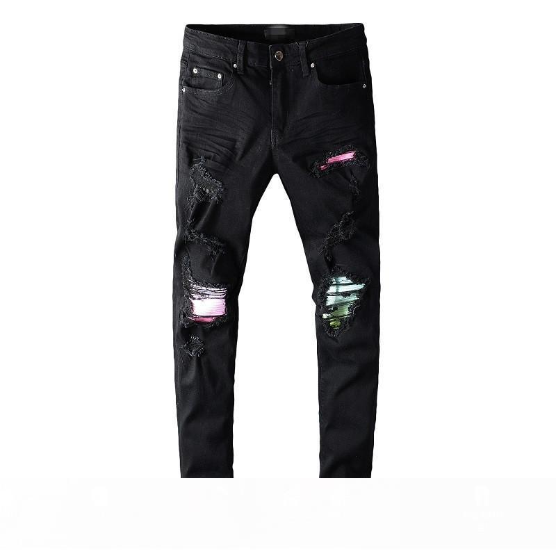 Jeans Pantalons Vêtements Black Panther Soldier Hommes Slim Denim Biker droite Hip Hop Jeans Hommes