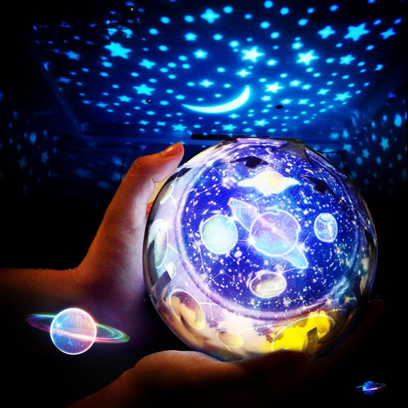 Starry Sky Magic Star Moon Planet Rotating Projector Lamp LED Night Light Cosmos