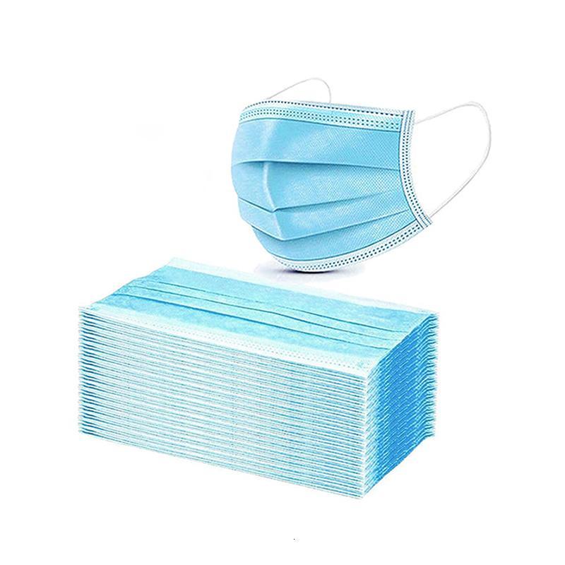 Livraison gratuite 3-7 jours spot livraison masque jetable étanche à la poussière et les hommes adultes et les femmes respirant l'été à trois couches minces indepe perméable à l'air