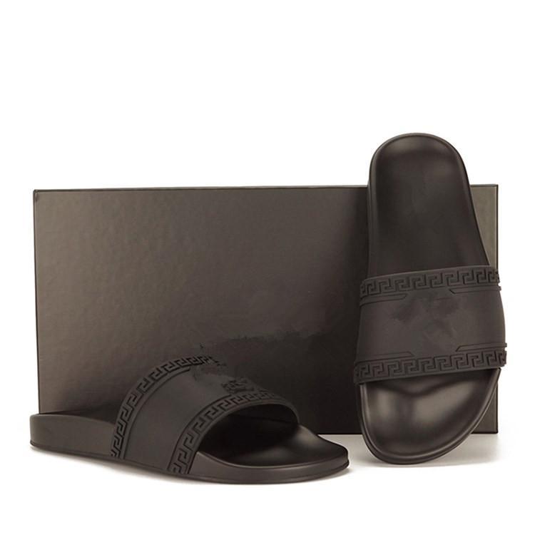 Nuovi progettista degli uomini pantofola fondi mens Gear strisce sandali estivi causale antiscivolo huaraches ciabatte infradito pantofola migliore qualità US 7-12