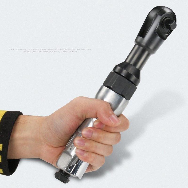 Угловая Air Ratchet ключ 1/2 дюйма 3/8 дюйма небольшой воздушный Cannon ключ High Torque Тяжелый Угловая pQFh #