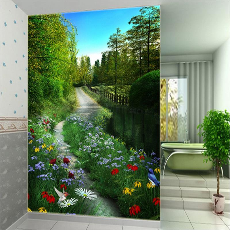 Kann großen Wand Raum angepasst wird grün 3D-Stereo-Vision-Hintergrund Wand Papier Wohnzimmer Schlafzimmer Tapeten zu erweitern