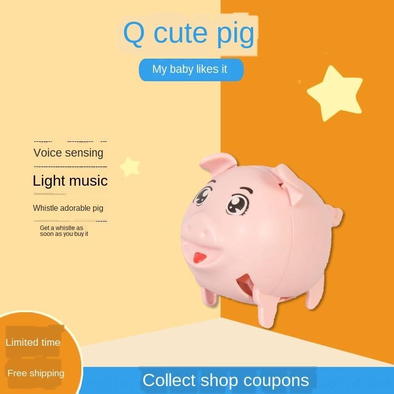induzione a comando vocale fischi del giocattolo di suino fischio fischio può correre e saltare maiale TikTok stesso elettrico giocattolo per bambini