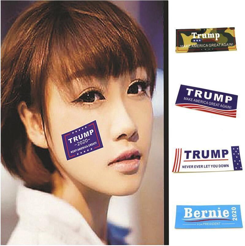 autocollants pour le visage de Trump 4 Styles 10 * 3.5cm 2020 élection présidentielle Amérique face à Bernie Trump Autocollants IIA30
