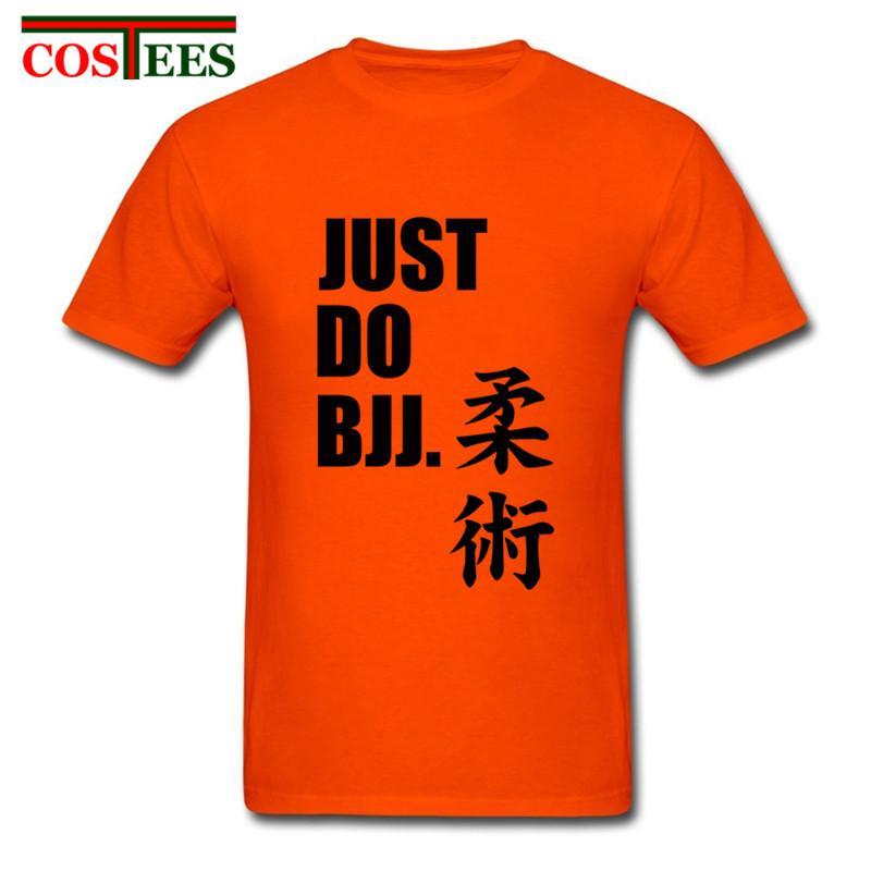 Basta fare BJJ Lettera di stampa uomini della maglietta Brazilian Jiu Jitsu T-shirt Hombre O manica corta Tee Shirt Confortevole maglietta Concerto