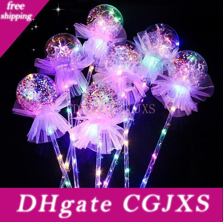 Çocuklar Oyuncak Led Balon Magic Light Emitting Çubuk Çocuk ilmek Aydınlık El Balon Düğün Decra Valentine Hediye Sticks