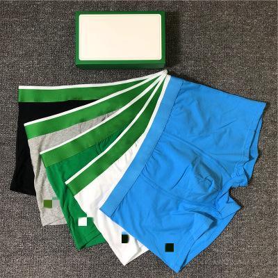 Nuovo Mens dei pugili degli uomini della biancheria intima casuale parti superiori di qualità Mutande MALE 5 colori di formato M-2XL 3 paia One Box