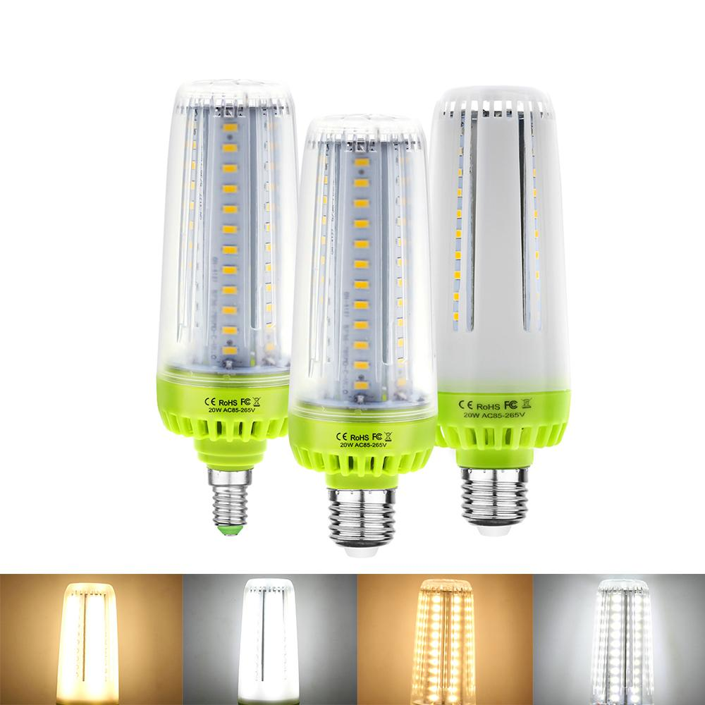 SMD5736 78LEDs LED E27 E14 bombilla LED Hight brillo del maíz del LED 20W blubs lámpara blanco cálido blanco Sin parpadeo para el hogar AC85V-265V