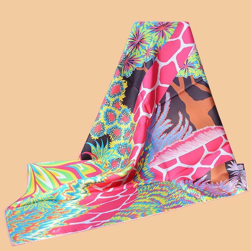 Huajun 2 Магазин || Неправильный знак Другой «Три грации» 90 шелк квадратный шарф саржевого спрей шарф ручной керлинг