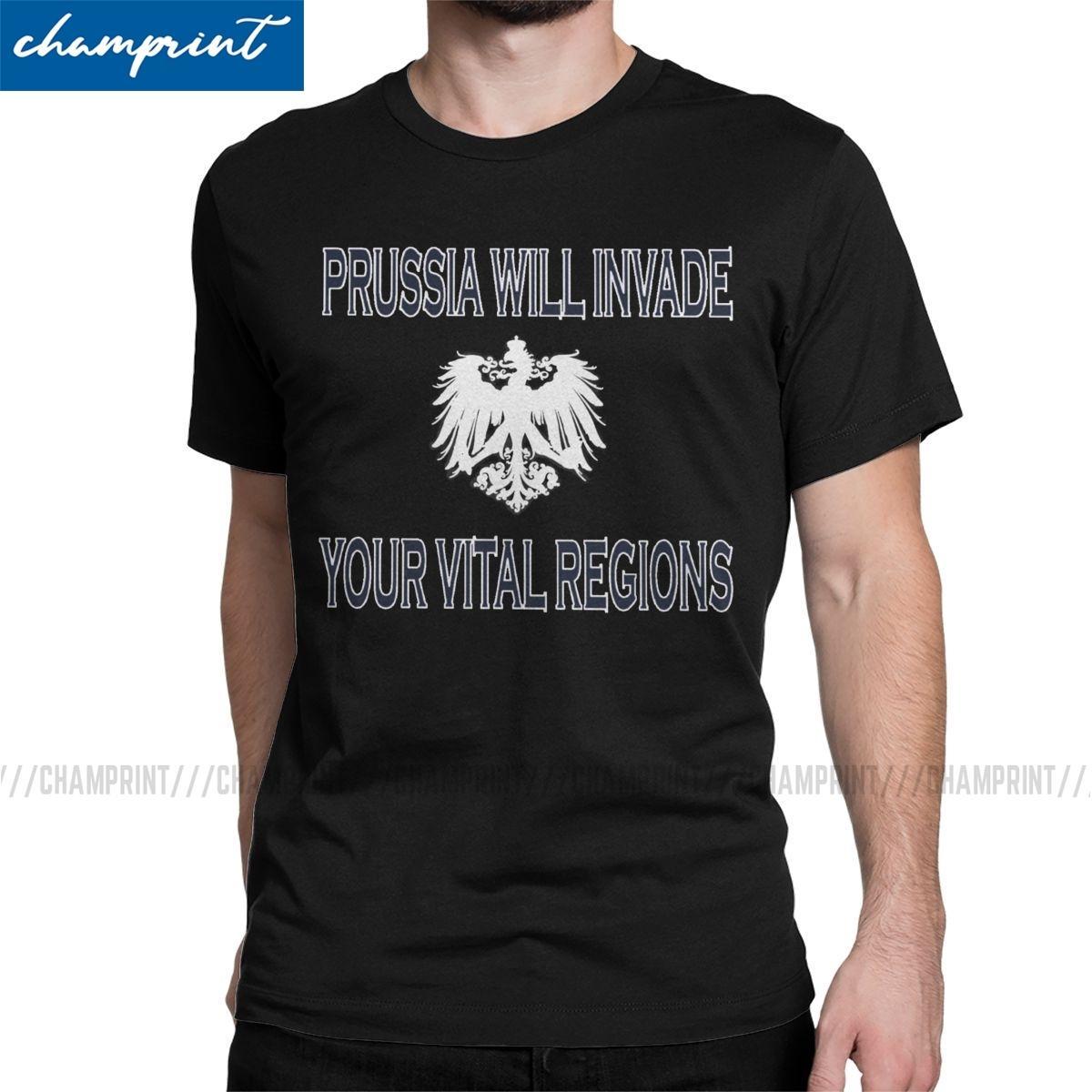 2019 T-shirt Vital Regiões Moda para Homens Cotton Camisetas Axis Powers Hetalia Anime APH mundo t-shirt de aniversário roupa Presente