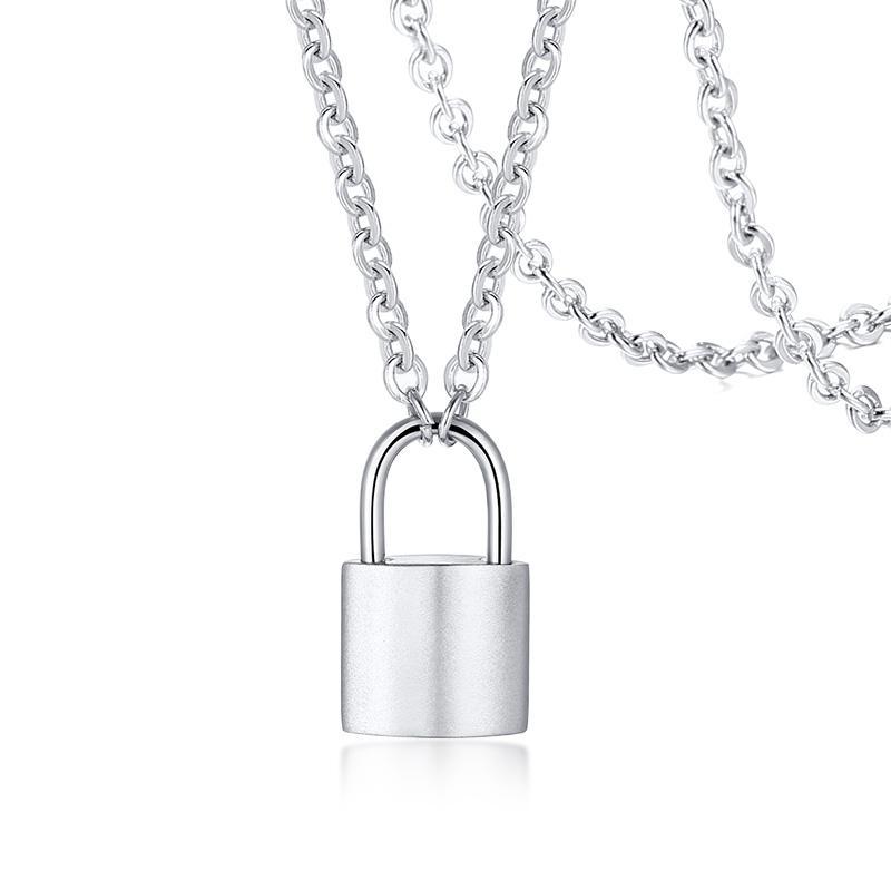 Gioielli chiave, delicata collana del pendente chiave in acciaio inossidabile