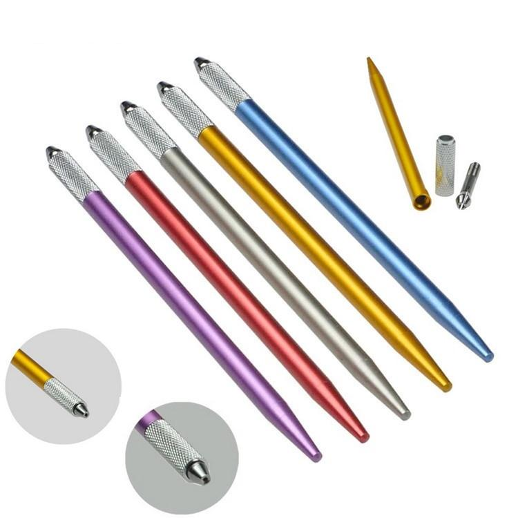 Microblading القلم آلة الوشم الدائم ماكياج الحواجب دليل القلم 3D الحاجب الشفاه التطريز نصيحة حامل أداة RRA3429