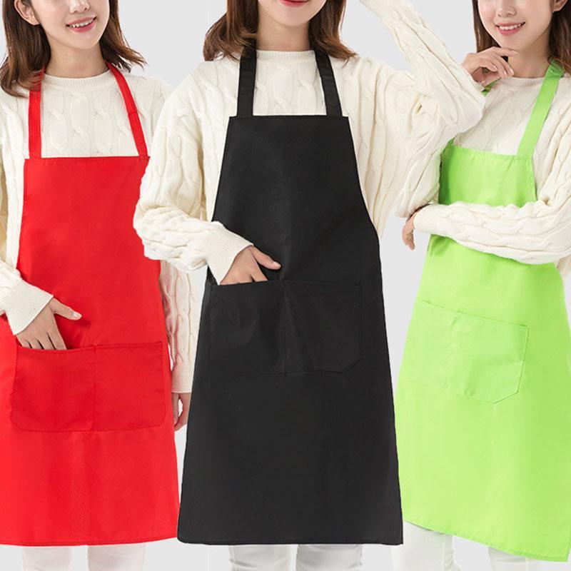 Tablier coloré de cuisine Cuisine Vêtements Prenez soin de manches Tabliers femmes et pratiques tablier universel masculin chef avec poche
