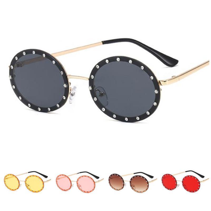 Mode Frauen Randlose Anti-UV Diamant Eyewear Glasse Dekorative Brille Sun Sonnenbrille Goggles Brillen Oval Party A ++ LGTSP