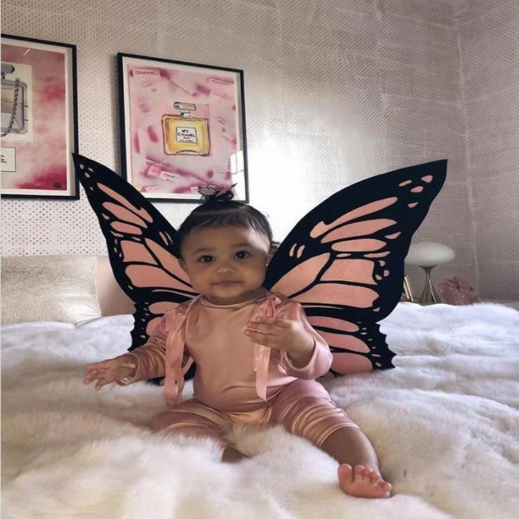 Cosplay kanatları Cadılar Bayramı kostümü Kelebek giyim giyim kadar Cadılar Bayramı kostümü Cosplay kelebek kanatları peri elbise giyinmek peri
