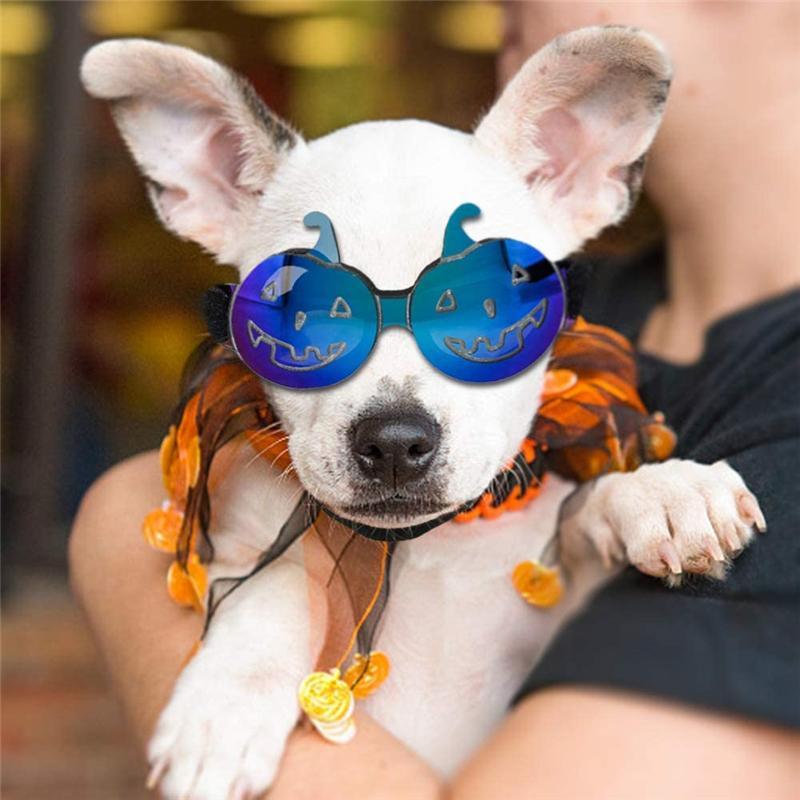 Small Dog Sunglasses Waterproof Windproof UV Protection for Doggy Puppy Cat Halloween Pet Goggles Glasses JK2009XB