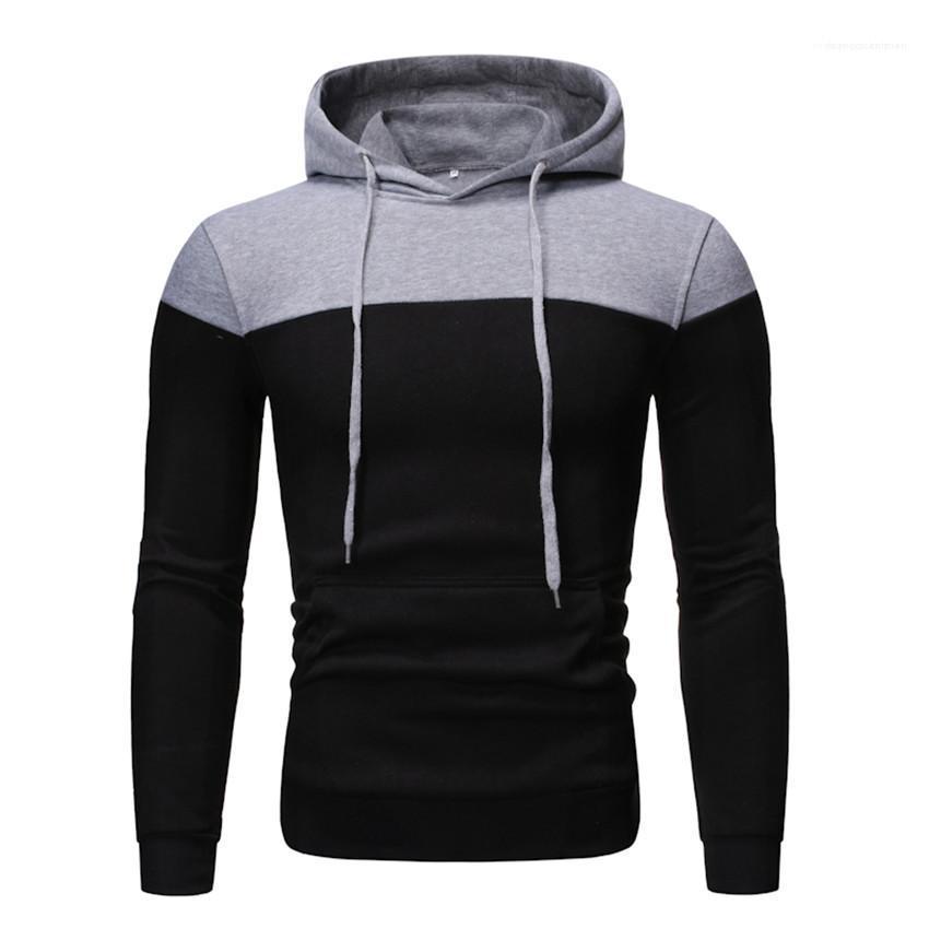 Langarm-Mann Sweatshirts beiläufige dünne Hip Hop Homme Kleidung Winter-Vlies-Männer Hoodies Patchwork mit Kapuze