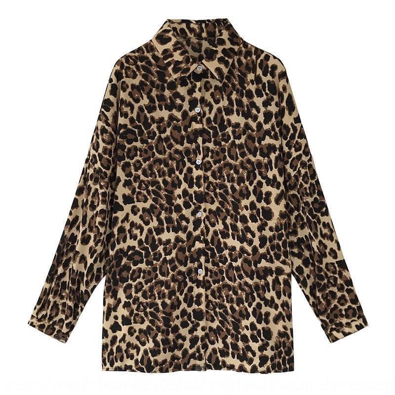 KDT0s большой 2020 средней длины мода свободного размера в осени леопардовых женщины длинного рукав рубашки Z6eeG база рубашка моду новой