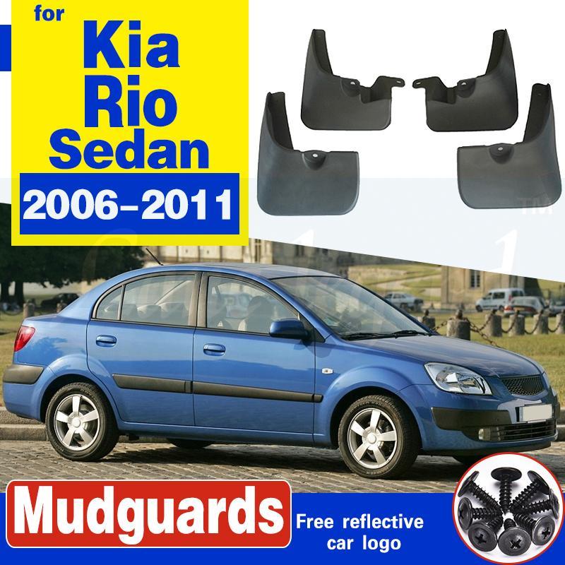 für KIA Rio 2 JB Sedan Limousine 2006 ~ 2011 Auto-Schmutzfänger Kotflügel Schmutzfänger Guard Spritz Flap Radschützer Zubehör 2007 2008 2009 2010