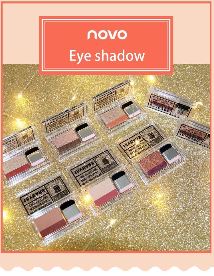 EB001 NOVO 2019 новый ленивым тени для век косметика Матовый Shimmer двойной цвет глаз тени Stamp голый палитра с кистью Nude набор для макияжа