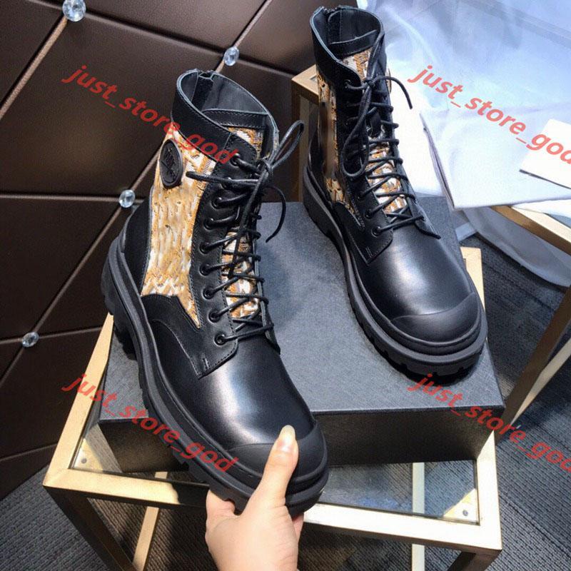Dior boots Modedesigner-Frauen-Stiefel beste Qualität Sternenspur Lace-up Ankle Boots mit schweren Sohlen Freizeit Dame Stiefel