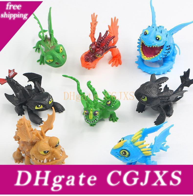 How To Train Your Dragon Action Figures 8 Pcs A Set Toothless Night Fury Kids Toys