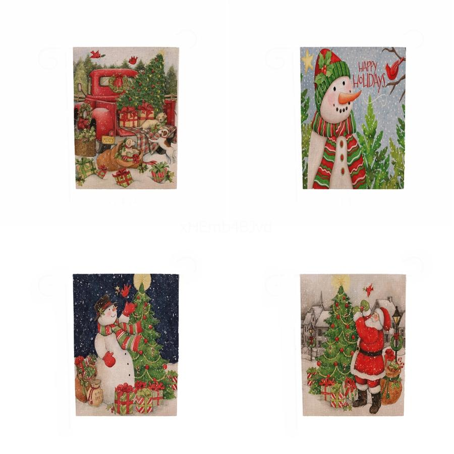 Bandera de Navidad creativo decoración de mesa de Navidad hilado teñido Jacquard venta caliente de la bandera de la Tabla # 116