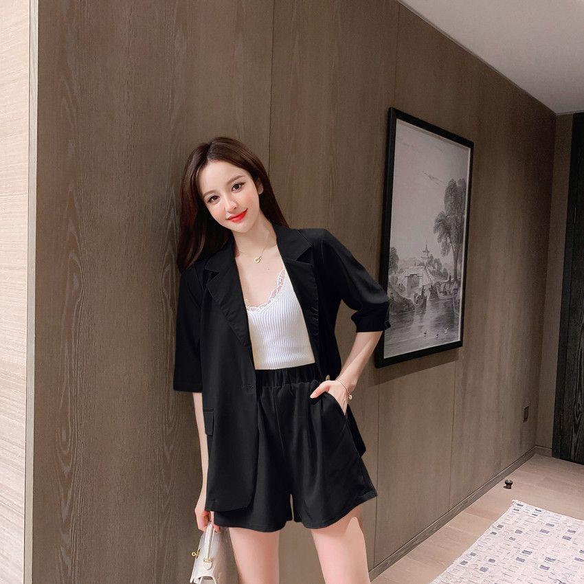 RrCBG verticalchic Qian Lady small celebrity Internet suit jacket jacket suit summer Korean style casual women's