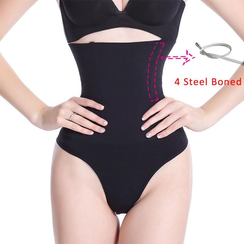 Women Shapewear High Waist Tummy Control Pants Body Shaper Seamless Underwear Thong Panties Slimming Girdle Bodysuit Lingerie 200922