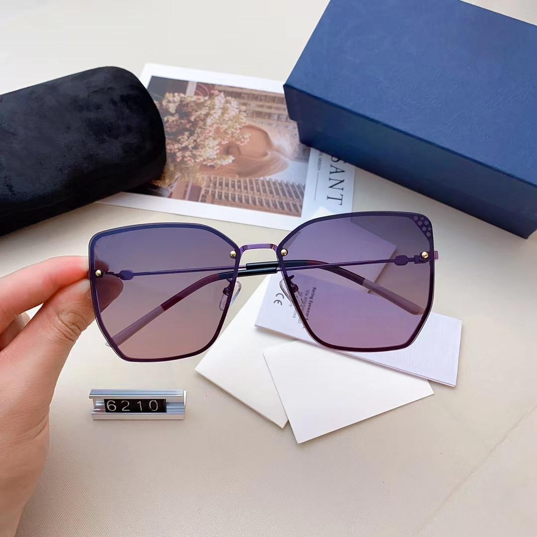 2020 الجديدة النظارات الشمسية تصميم الأزياء، والسيدة فاخر مصمم النظارات الشمسية، وتصميم مثالي لجميع أنواع الوجه نظارات 5 ألوان عالية الجودة G6210