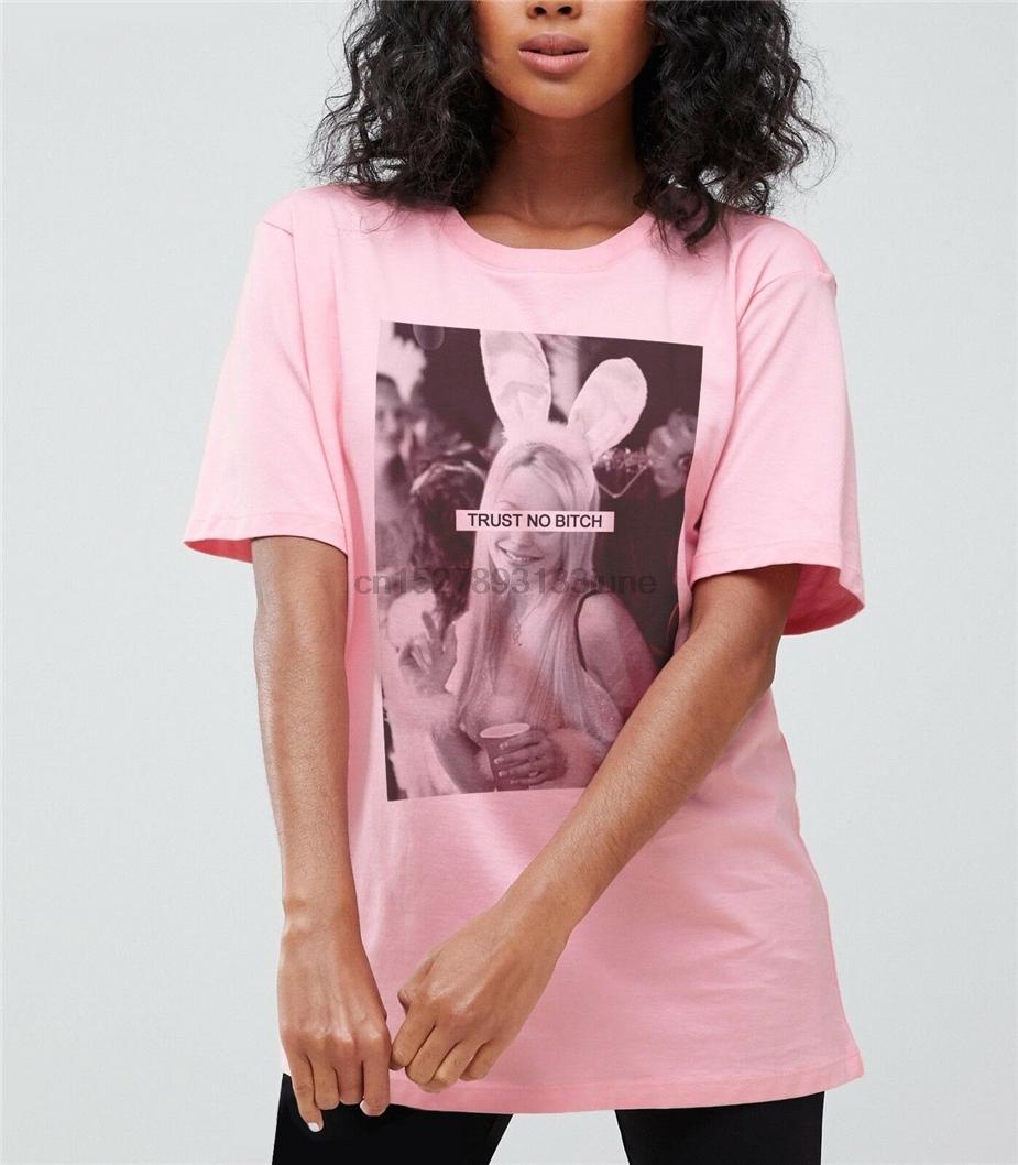 Güven yok Kaltak Kötü Kızlar Tişört Regina Bunny Cult Çarşamba Film Tee Şenlikli Tee Gömlek Getirme