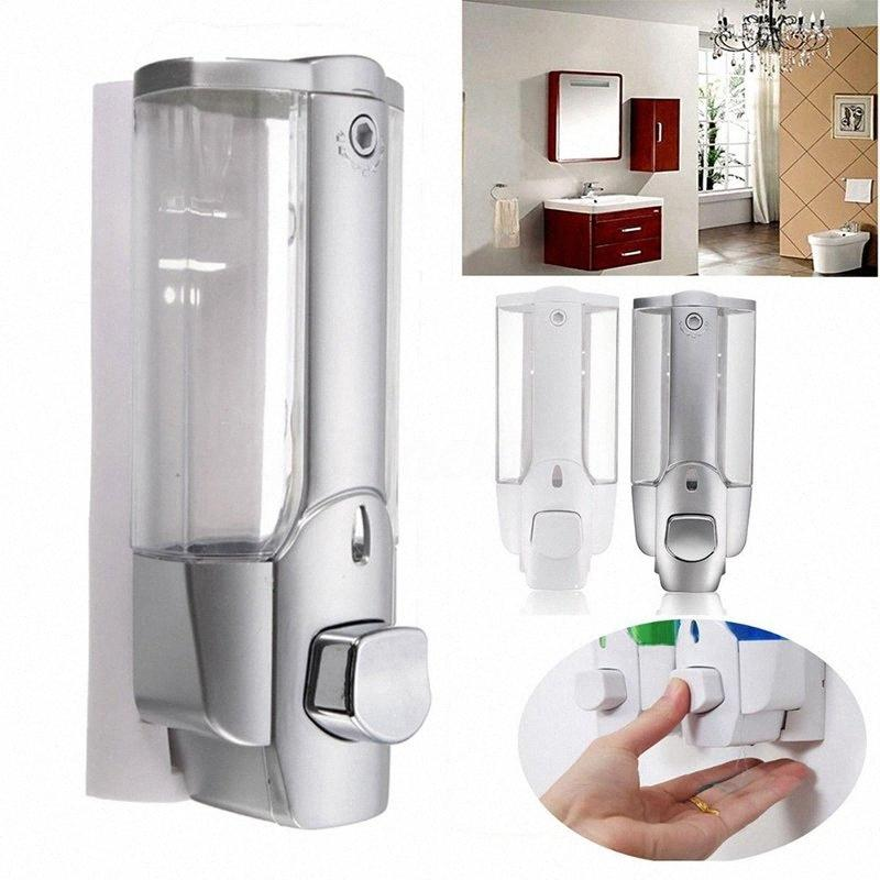 Wall-montado manual de Imprensa dispensador de sabão líquido 350ml Plastic Hand Sanitizer Shower Gel Sabonete Líquido Dispensers Banho HHA1374 OCHC #