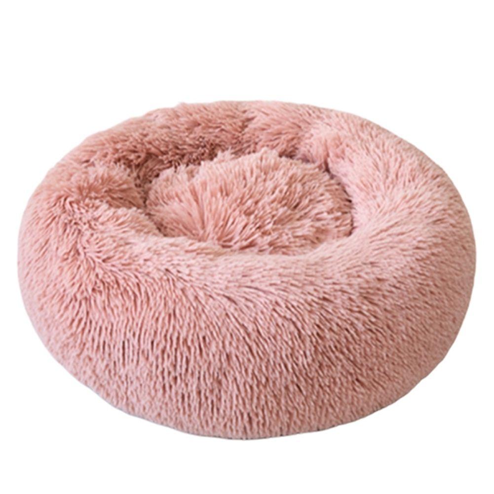Lavável Plush Pet cama Outono Inverno Redonda Cães Gatos macio morno portátil sólido