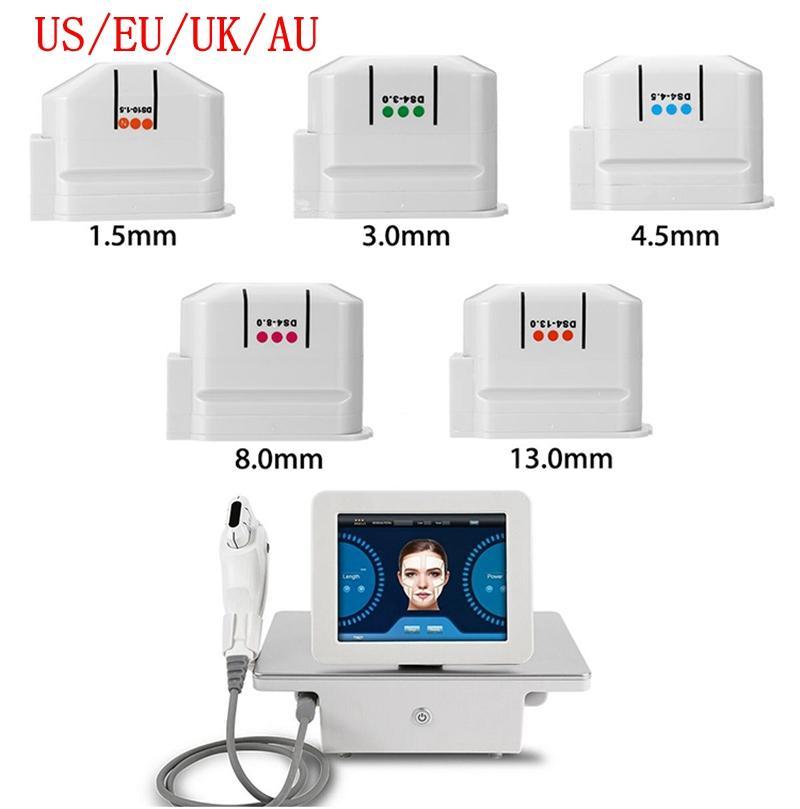 Professionnel Portable HIGHTASEND Ultrasound Ultrasound HIFU Machine Machine de levage de la peau Serrez le corps Minceur Beauty Spa Salon avec 5 cartouches 10000 Flash