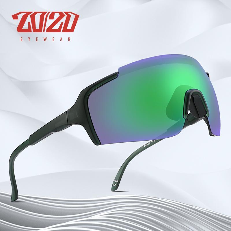 Gafas de sol de los hombres de gran tamaño de la lente de los vidrios de Sun 20/20 Diseño Marca Pesca conducción protección de Eyewear UV400 para las mujeres PL418