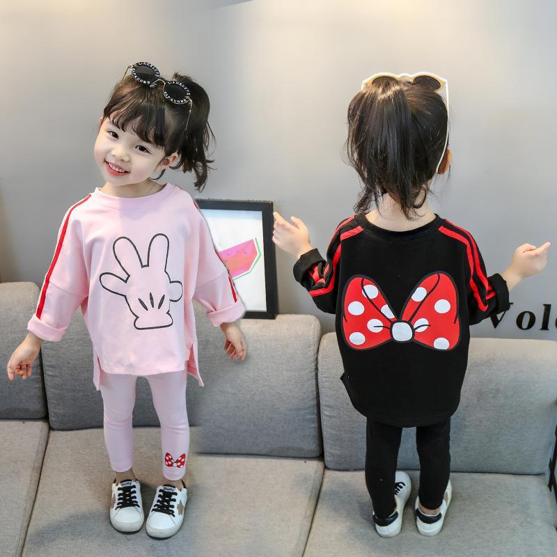 2020 Bambini Abbigliamento Abbigliamento Costume Costume per bambini Sport Sport Primavera Autunno Toddler Girls Vestiti Tracksuit Baby Girls Abbigliamento Set Y200829