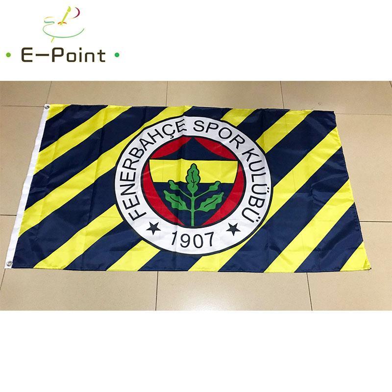 Turquia Fenerbahce SK FC 3 * 5 pés (90 centímetros * 150 centímetros) presentes poliéster bandeira bandeira decoração voar para casa jardim bandeira festivas