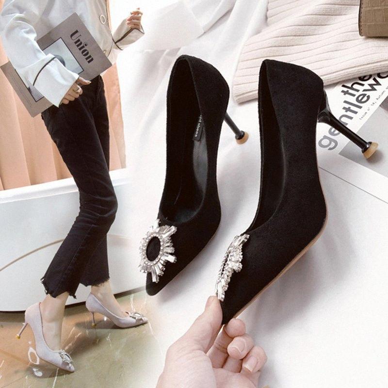 섹시한 숙녀 하이힐 여성 펌프 여성 파티 신발 우아한 라이게스 슈퍼 하이힐 얇은 힐 8cm A2173 NMPA #