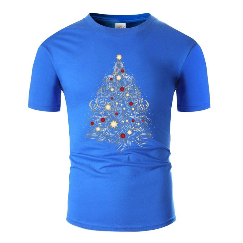 Neuestes Design Weihnachtsbaum im Gold T-Shirt für Männer Humorous Hilarious Grau Kleidung Erwachsen-T-Shirts Kurzarm
