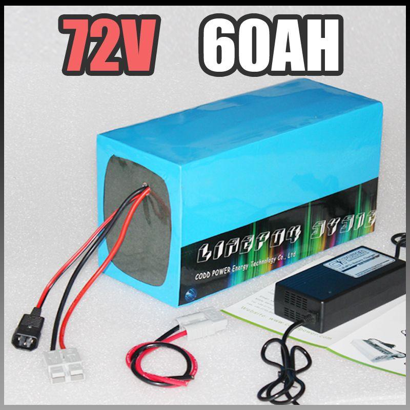 Batteria agli ioni di Scooter elettrico 72V 60Ah Li 4000W Samsung biciclette motorino di litio della batteria 72V pacchetto