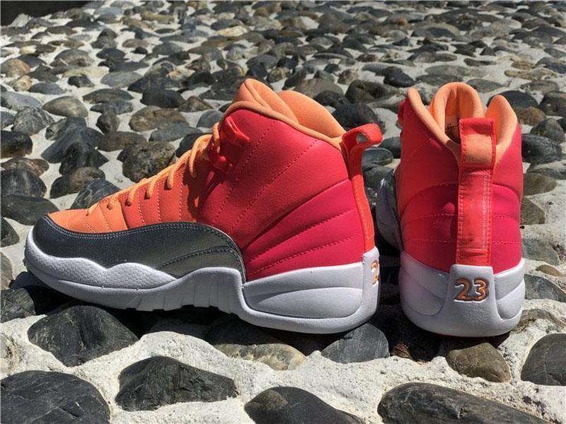 En Yeni Sıcak Otantik 12 GS Sıcak Punch Gerçek Karbon Elyaf Basketbol Ayakkabı Yarışçı Pembe 12S Retro Atletik Adam Spor Spor ayakkabılar 510815-601