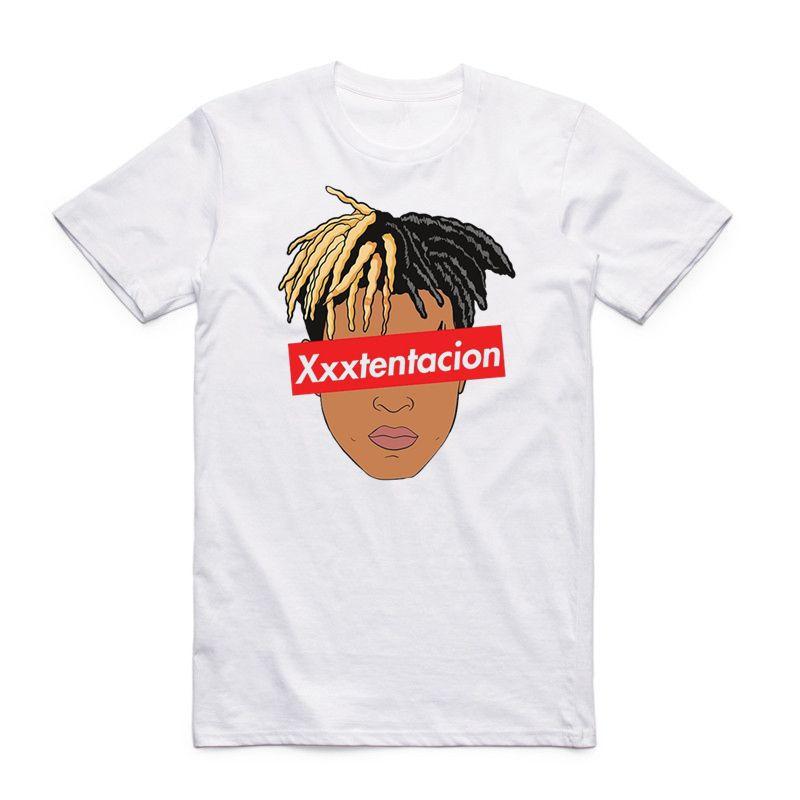 El rapero imprimir Xxxtentacion de Hip Hop de la camiseta ocasional de la manera del O-cuello de la camiseta de manga corta Ropa del Swag para hombres y mujeres Hcp883