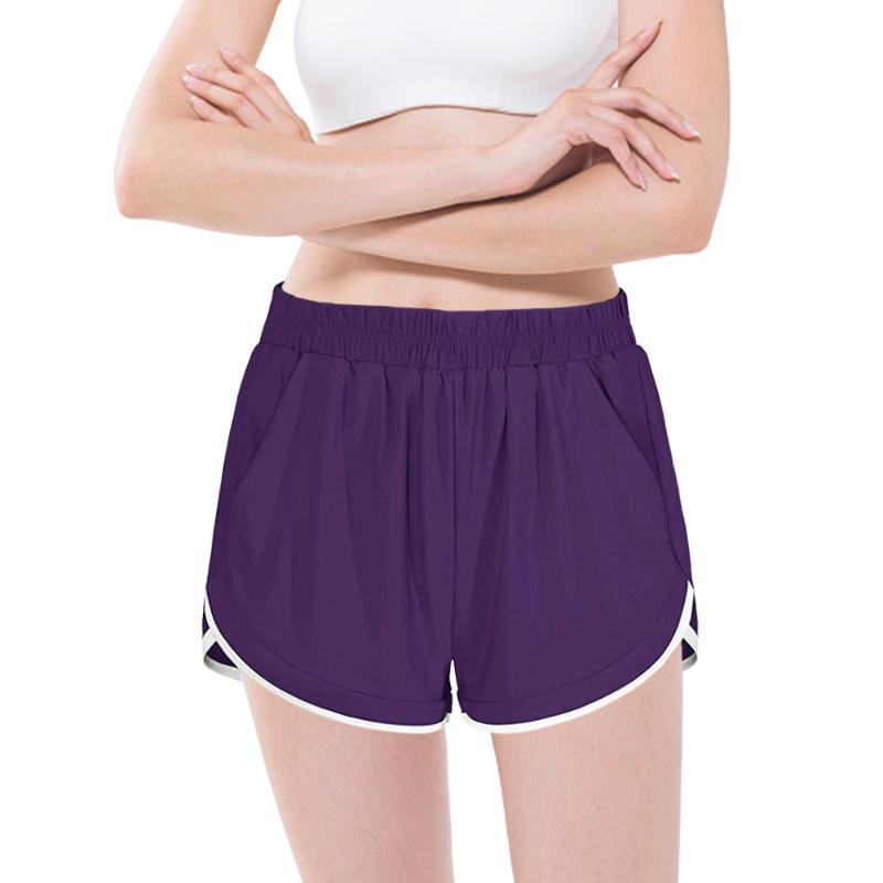 요가 복장 여름 운동 체육관 반바지 여성 전문 스포츠 실행 검은 낮은 허리 운동 조깅 훈련 사이클링