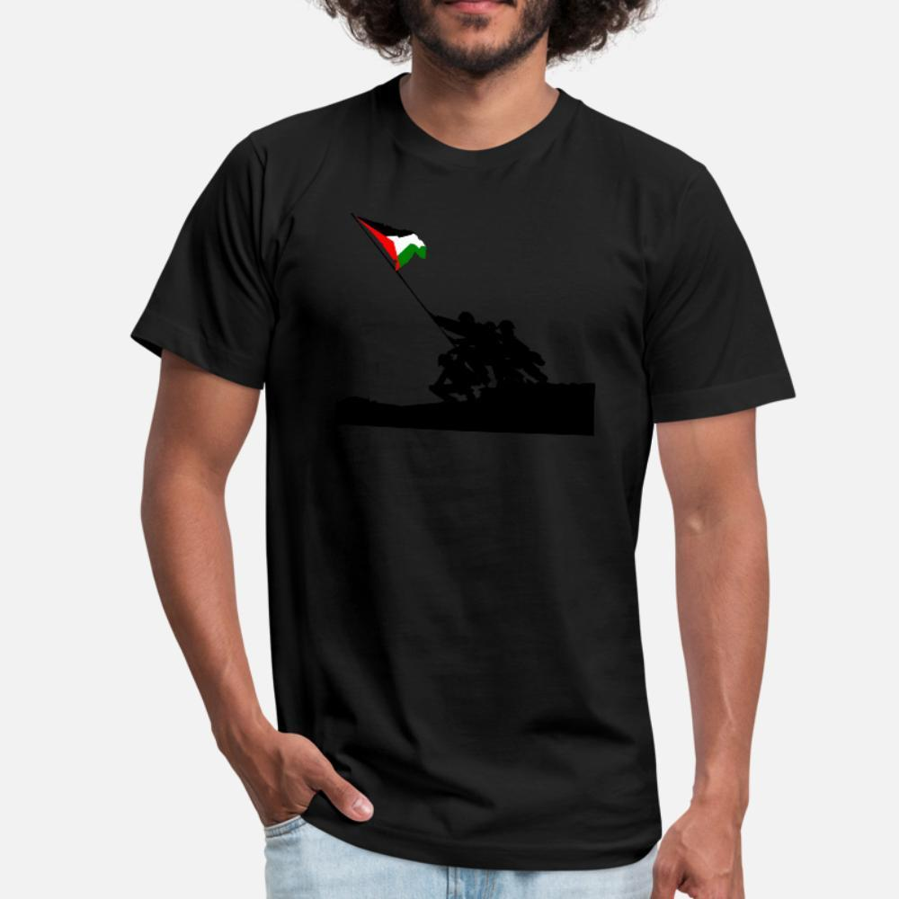 Palästinensischer Staat T-Shirt Männer personalisierten aus 100% Baumwolle runder Kragen-Basic-Fest Fit neuer Art-Sommer-Art Natur Shirt