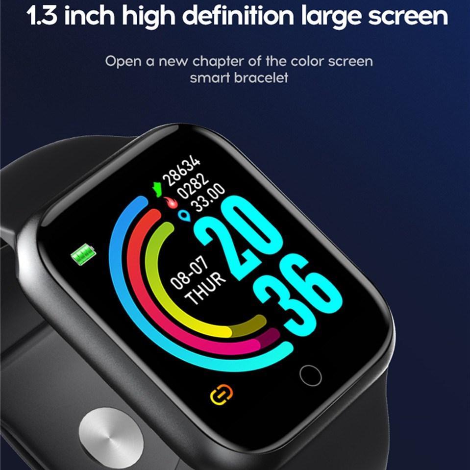 Y68 Artı Spor Izci Moda Çağrı İzle Akıllı Artı Bilezik Bileklik 1.54 inç Tam Dokunmatik HD Büyük Ekran Sağlık İzleme