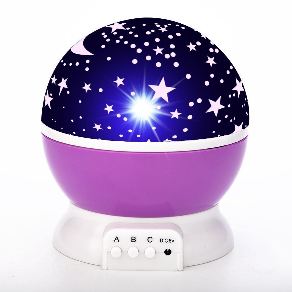 Lâmpada Galáxia Projetor Starry Sky Girando LED Night Planetário Crianças Quarto Estrela Noite luzes Luz luz