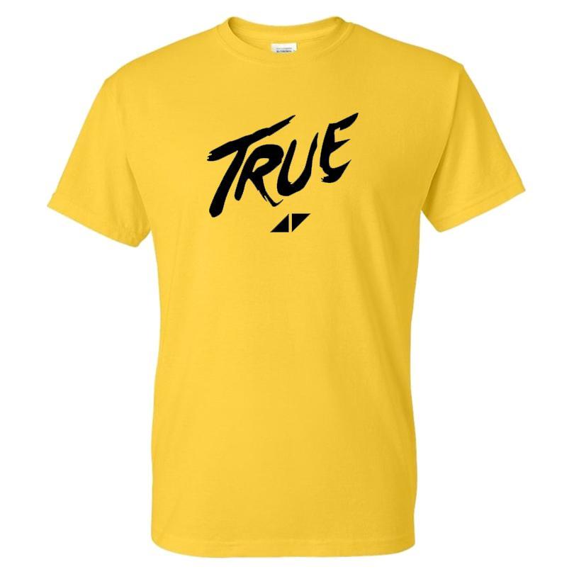 Tshirt DJ Avicii stampa casuale Moda Streetwear Uomo Donna Sport maglietta TRUE Lettera di modello della camicia di cotone Tees Tops Abbigliamento uomo