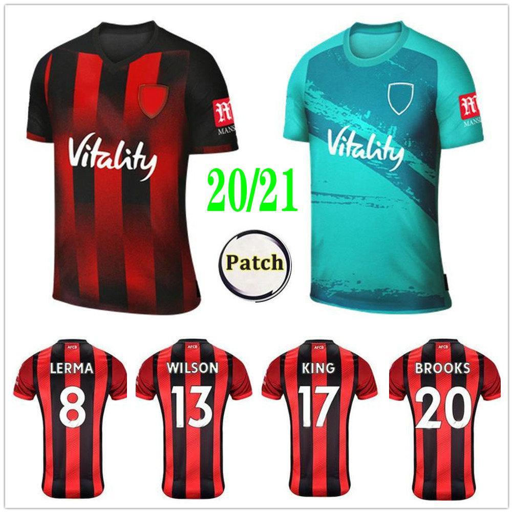 2020 2021 Kiraz AFC Futbol Formaları Lerma Danjuma Solanke Kral L.Cook Brooks Özel 20 21 Eve Uzakta Yetişkin Çocuklar Futbol Gömlek