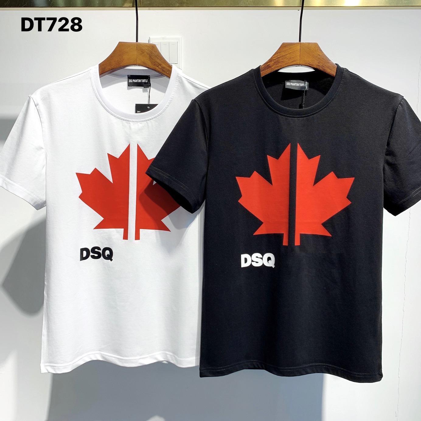 DSQ PHANTOM TURTLE 2020FW New Mens Designer T shirt Italy fashion Tshirts Summer DSQ Pattern T-shirt Male Top Quality 100% Cotton Top 7538