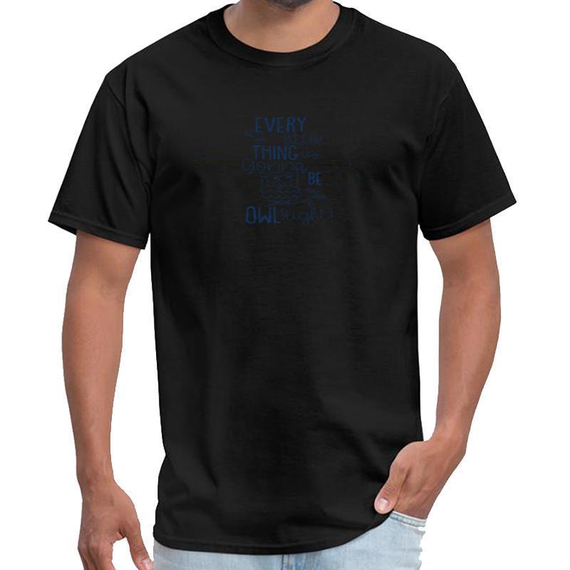 Aptitud búho Gonna Be Owlright motivación Bird Regalo divertido Wolfenstein la camiseta de los hombres de Rick camiseta superior XXXL 4XL 5XL hiphop